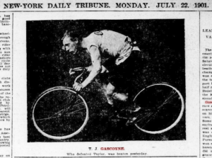 Thomas Jepson Gascoyne, champion English cyclist who died fighting with the Australian infantry in 1917.