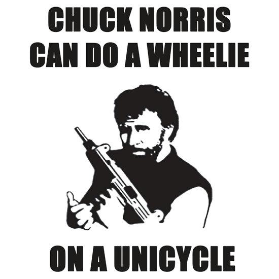 Chuck a wheelie