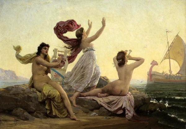 Marie-François_Firmin-Girard_-_Ulysses_and_the_Sirens_1868