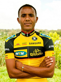 Tsgabu Grmay. The first Ethiopian to ride on the WorldTour.